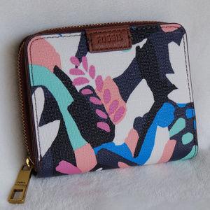 Fossil Floral Emma RFID Mini Wallet